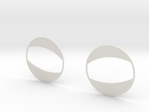 Half Open in White Natural Versatile Plastic