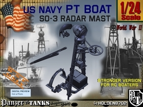 1/24 SO-3 Radar Mast Strong in White Natural Versatile Plastic
