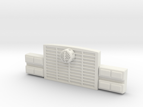 1/87 HME Grill With Headlights in White Natural Versatile Plastic