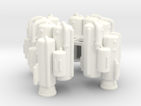 Dinky Eagle Heavy Lift Booster - Four Pack in White Processed Versatile Plastic