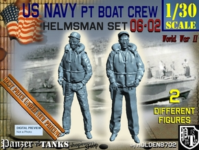 1/30 USN PT Boat Helmsman Set 06-02 in Frosted Ultra Detail