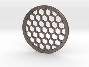 Honeycomb 43mm in Polished Bronzed Silver Steel