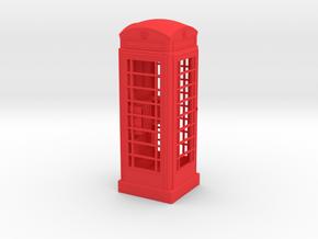 K6 Telephone Box (10cm) in Red Processed Versatile Plastic