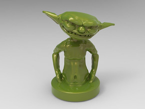 Goblin Gamepiece in Green Processed Versatile Plastic