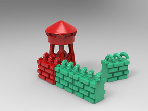 T.R.U.M.P. Towers for Monopoly in Red Strong & Flexible Polished