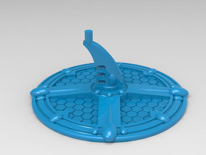 Base for Eldar Battleships in Blue Processed Versatile Plastic