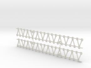 Y-Schwellengleis, Code 75, 180 mm, 2 Stück in White Strong & Flexible