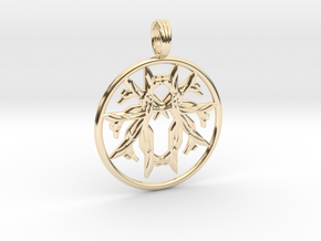 LIFEGIVER in 14k Gold Plated Brass