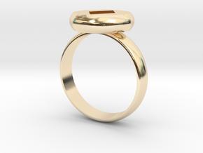 Ring Diamond PrintPrep Size7 V02.stl in 14K Yellow Gold: Medium