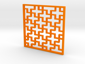 Costers with 卐 pattern in Orange Strong & Flexible Polished