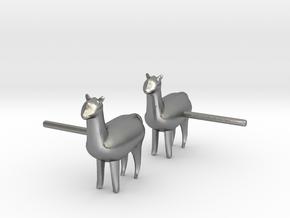 Alpaca Studs in Natural Silver