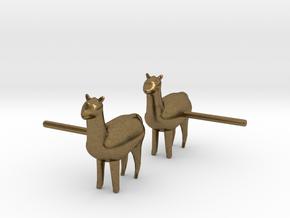 Alpaca Studs in Natural Bronze
