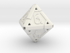 Vertex Dice RPG Set and Singles in White Natural Versatile Plastic: d8