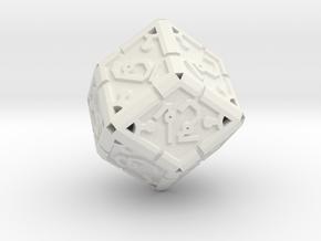 Vertex Dice RPG Set and Singles in White Natural Versatile Plastic: d12