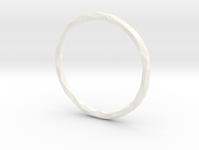 Poly Ring - sz 10 1/4 in White Strong & Flexible Polished