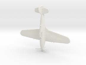 1:285 Hawker Hurricane in White Natural Versatile Plastic