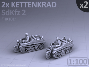 Sd.Kfz 2 - KETTENKRAD - (2 pack) - (1:100) in Smooth Fine Detail Plastic