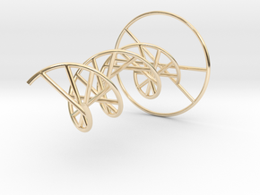 DNA Molecule Metal. 4 Size options. in 14k Gold Plated Brass: 1:10