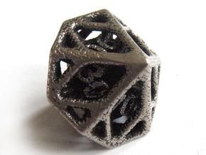 Cage Decader Die10 in Polished Bronzed Silver Steel