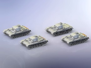 German Panzer III A-D Variants 1/144 in Smooth Fine Detail Plastic