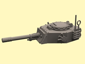 28mm APC turret with autocannon in White Strong & Flexible