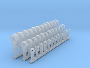 Rod Ends 1/12 in Smooth Fine Detail Plastic