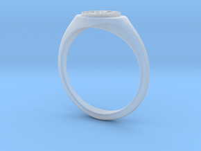 NTUA Female Ring in Smooth Fine Detail Plastic