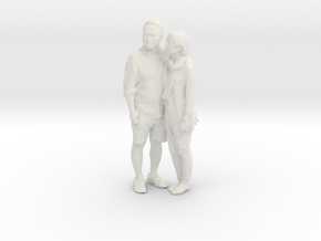 Printle C Couple 018 - 1/24 - wob in White Strong & Flexible