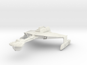 Klingon D6 Class A  HvyCruiser in White Strong & Flexible