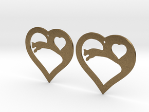 The Eager Hearts (precious metal earrings) in Natural Bronze