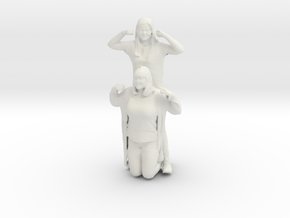 Printle C Couple 027 - 1/24 - wob in White Strong & Flexible