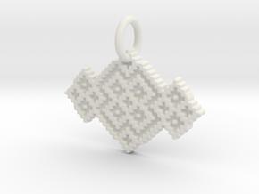 M and W Pendant in White Natural Versatile Plastic