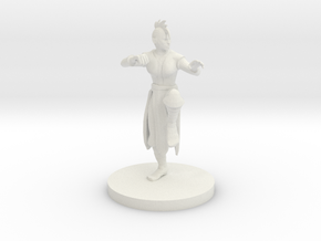Human Female Monk with Mohawk Cut in White Strong & Flexible