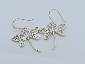 Dragonfly Earrings or pendant in Premium Silver