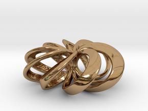 Rosette Pendant in Polished Brass