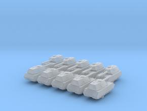 1/700 German Mauschen Heavy Tank x10 in Smoothest Fine Detail Plastic