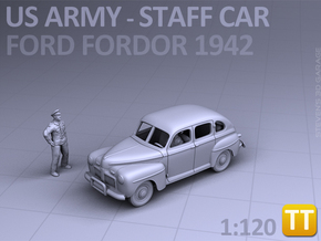 American Staff Car 1942 - (1:120) TT in Smooth Fine Detail Plastic