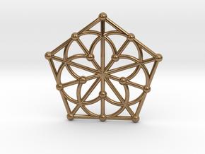 Generalized Quadrangle Pendant, Variation 1 in Natural Brass