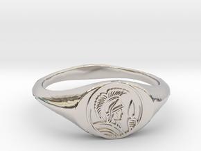 Leonidas Ring in Platinum