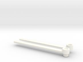 Crossblades Mega Pretender rotorblades in White Processed Versatile Plastic