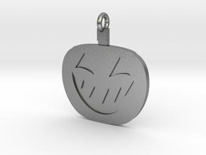 Jack-O-Lantern Pendant in Natural Silver