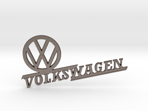 SUS VW Canadian Emblem in Polished Bronzed Silver Steel