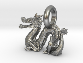 Dragon in Natural Silver