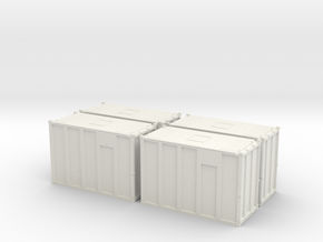 HO 1/87 MSW Trash Containers in White Natural Versatile Plastic