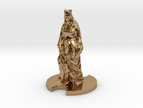Medieval Queen in Polished Brass