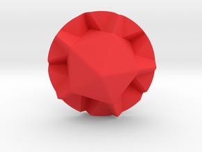 D20  mold maker in Red Processed Versatile Plastic