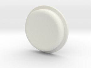TLF# - Calm Button in White Natural Versatile Plastic