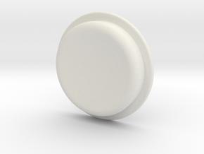 TLF# - Calm Button in White Strong & Flexible