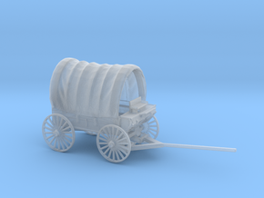 S Scale Covered Wagon in Smooth Fine Detail Plastic