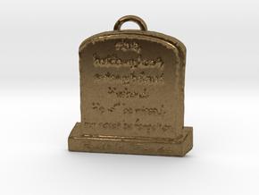 Memorial Pendant in Natural Bronze: Large